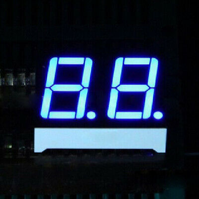 10pcs 0.56 inch 2 digit led display 7 seg segment Common anode 阳 blue 0.56""