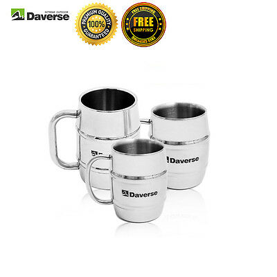 Stainless Steel Outdoor Mug Coffee Tea Insulated Double Wall Cup Travel Tumbler