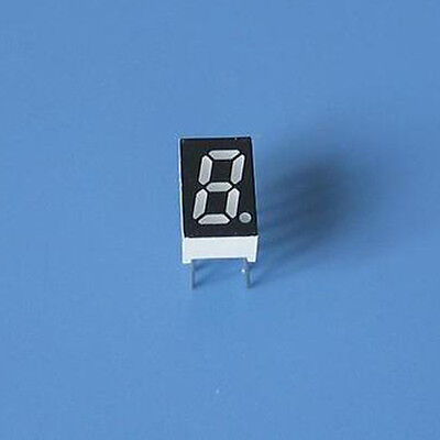 10pcs 0.28 inch 1 digit led display 7 seg segment Common anode 阳 red 0.28""