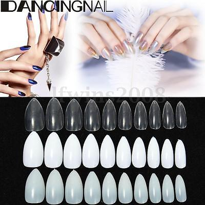 600pcs Capsules Faux Ongles Full Tips Gel UV Acrylique French Manucure Nail Art