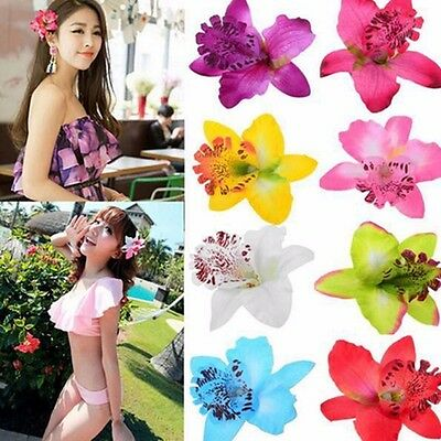 Women Summer Hawaii Style Beach Orchid Party Flowers Hair Clips Hair Decorations