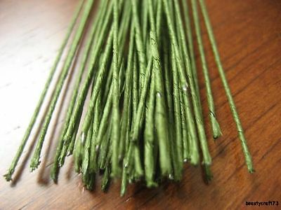 50 Green Florist Stub Stem Floral Wires #30 GAUGE