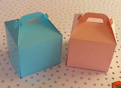 CUPCAKE BOXES  Light Pink or BLUE  80 x 80mm with inserts
