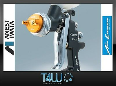 ANEST IWATA Gravity feed Spray Gun Air Gunsa AZ3 HTE-S Impact BLACK