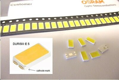 2000 pcs OSRAM DURIS®E5 LED 3500K CRI 85 HIGH QUALITY 5630 5730 LCW JDSH.EC 0.5W