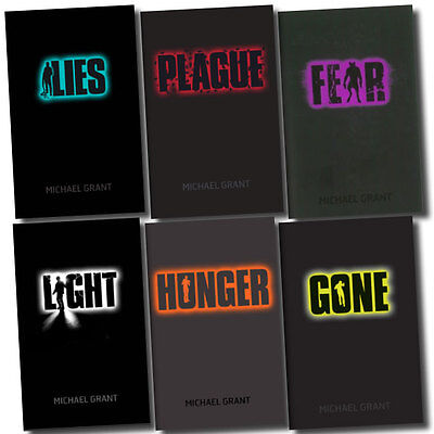 Gone Series Collection 6 Books Set by Michael Grant Light, Plague, Hunger, Gone