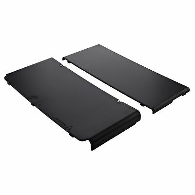 ZedLabz compatible top & bottom cover plates for Nintendo new 3DS console black