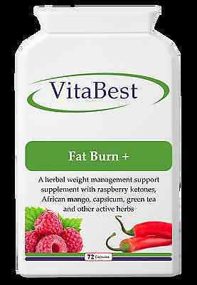 Fat Burn + Herbal fat burner with raspberry ketones - 72 Veggie Caps