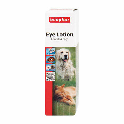 Beaphar Eye Lotion Cleaner Soothes Irritation Tear Stains for Dogs and Cats