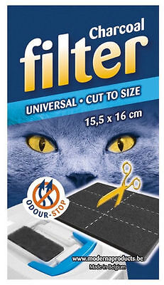 Universal Charcoal Filter Pad for Hooded Cat Litter Trays Loos Toilets