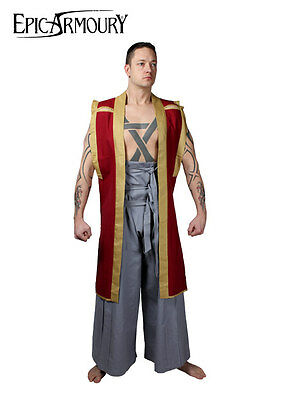 Jin-Baori, dark red/gold, LARP Clothing Medieval Samurai Garment Costume