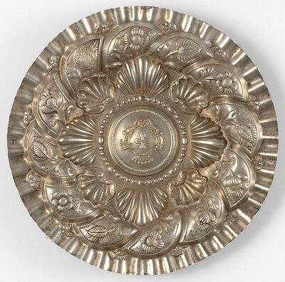 """""""Silver dish with coat of arms"""", Portugal, 19th century"""