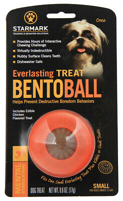Starmark Bento Ball Dog Toy Everlasting Treat Ball or Refill Dental Chews
