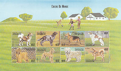 Central African Republic  Various Dog Breeds M/sheet No2    M / N / H