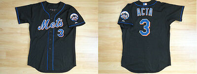 MLB Authentic Baseball Trikot Jersey NEW YORK METS Acta 3 Game Used sz46 Large