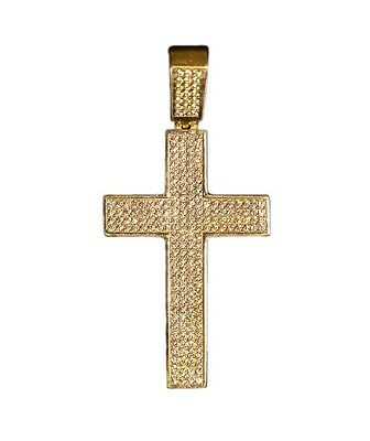 10K Gold Cross Pendant *Fine Yellow Gold Crucifix* 6.1g *New in Box*