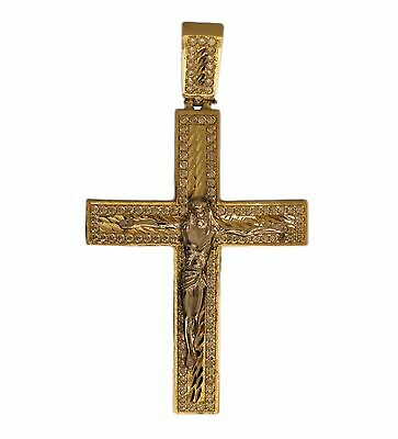 10K Gold Cross Pendant - Jesus Christ on Crucifix *New in Box*