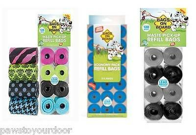 Bags On Board Dog Poo Bags Pack Waste Refill Rolls Bramton