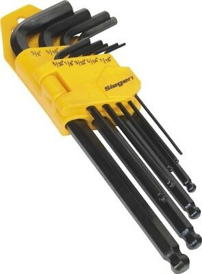 Sealey Long Ball-End Hex Allen Key 9 Piece Tool Set | Imperial Measure