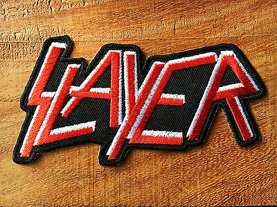 Slayer Logo Red Color Iron On Band Patch