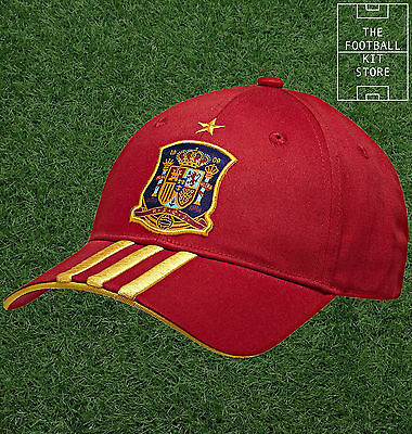 Spain Mens Football Cap - Genuine Adidas Spain Cap - One Size Fits Most