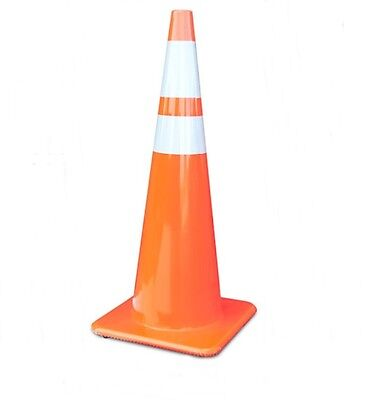 """Pallet of 200, 36 inch Orange Safety Traffic Cones, 6"""" and 4"""" Reflective Collars"""