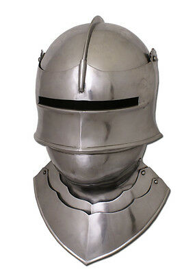 Gothic Sallet with Bevor, size M  - late medieval helmet also for larp