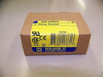 Square D 8501-NR34  Relay Socket  New