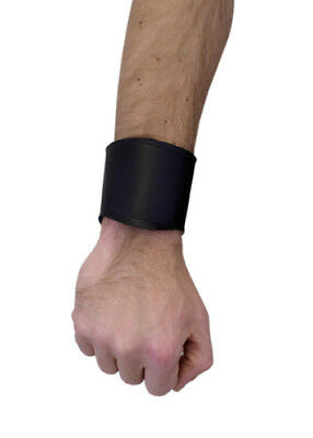 Bracer - leather wrist guard short, black - LARP - Viking - Reenactment