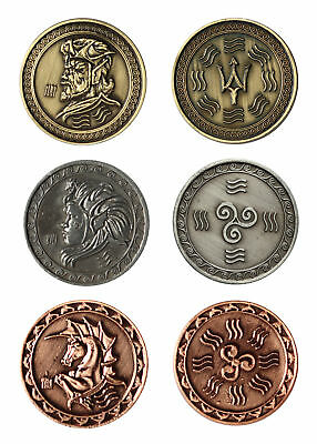 LARP coins Water, Fantasy Money Currency Medieval Ancient