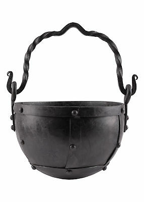 Riveted steel cauldron, approx. 3.5 litres - camp fire pot medieval viking LARP