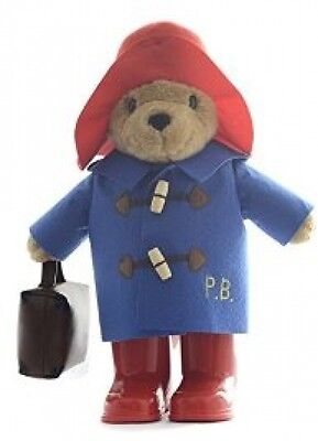Large Paddington Bear Plush Teddy Soft Cuddly Toy With Boots And Suitcase