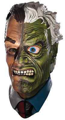 Two-Face Mask Batman Harvey Dent Fancy Dress Halloween Adult Costume Accessory