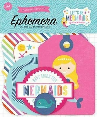 "Echo Park ""let's Be Mermaids"" Ephemera Die Cuts 33 Pcs Ocean  Scrapjack's Place"