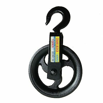 182194_V1 Contractor Scaffolders Builders Hand Block Lifting Rope Wheel Pulley