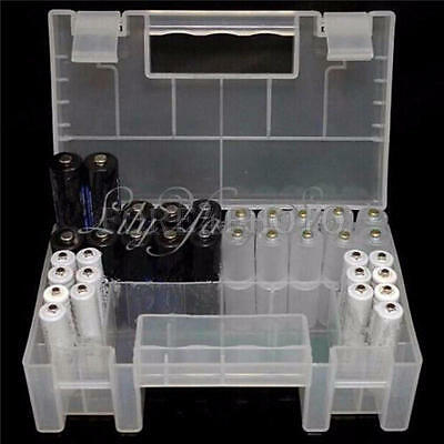 Hard Plastic Case Holder Storage Box Cover for Rechargeable AA AAA Battery