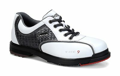 Dexter *NEW* THE 9 High Performance Bowling Shoes White Grey Croc