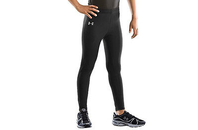 Under Armour Youths Coldgear Leggings in Black