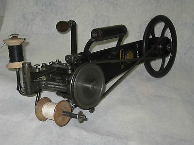 Antique Cast Iron Hand Crank  Singer 35-1 Carpet Sewing Machine. Made In Germany