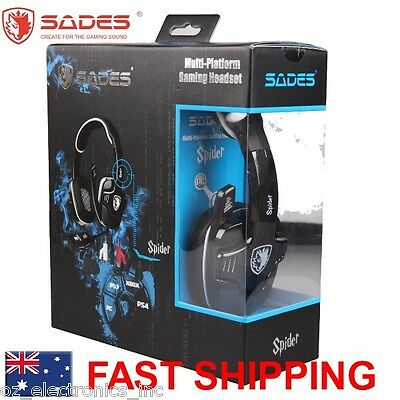 SADES SPIDER Universal Gaming Headset Microphone Chat PS4 Xbox One for Fortnite