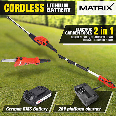 710W Corded Electric Pole Chainsaw Tree Pruner Outdoor Yard Garden Power Tool
