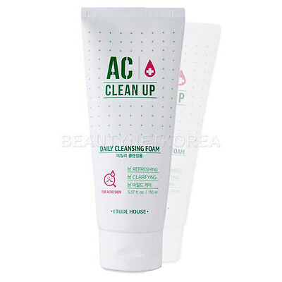 [ETUDE HOUSE] AC Clean Up Daily Cleansing Foam 150ml / Korea cosmetic