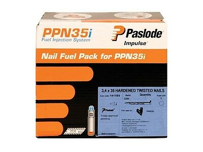 PASLODE 141189 35mm x 3.4mm Positive Placement Nails For PPN35CI (1250 + 1 Cell)