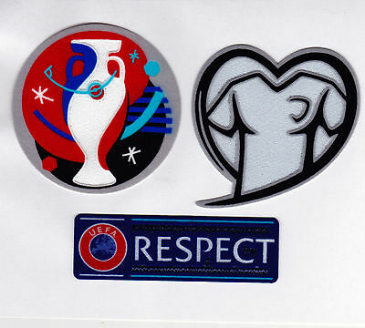2016 France EURO Cup + Respect Badge Patches For England Jersey UK