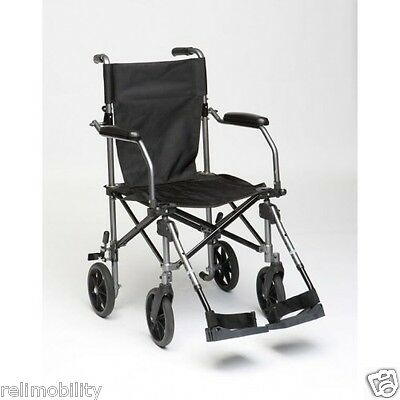 TraveLite Lightweight Aluminium Transport Chair With Carry Bag With Wheels