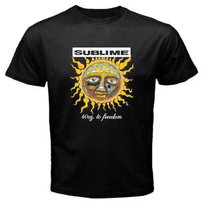 17494f931 New SUBLIME 40oz. to Freedom Ska Punk Rock Band Men's Black T-Shirt Size