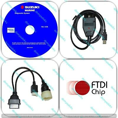 Diagnostic USB Cable Kit for Suzuki SDS 8.2 Outboard Boat Marine