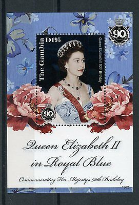 Gambia 2016 MNH Queen Elizabeth II 90th Birthday Anniv 1v S/S Royalty Stamps