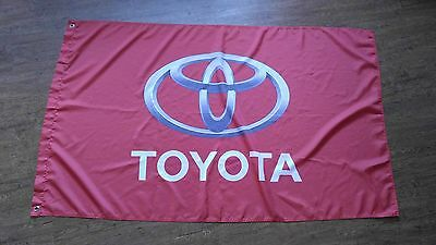 Toyota Logo Banner Style Red 3X5 150X90Cm Tundra Tacoma Camry Trd Racing Garage