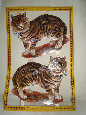 Sheet of Mamelok Scraps- 2 Large CATS - Sheet A126